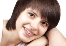 Free Close Up Portrait Of Happy Young Woman Royalty Free Stock Photography - 24884617