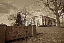 Columbus City Hall Stock Photo