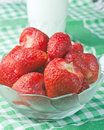 Free Strawberries In A Glass Bowl Royalty Free Stock Image - 24894686