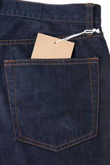 Free Jeans Tag Stock Photos - 24890653