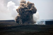 Free Kilauea Caldera Smoking, Big Island, Hawaii Stock Photography - 24893112