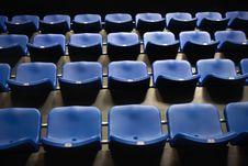 Free Empty Blue Seats Royalty Free Stock Image - 24893296