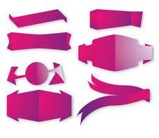 Vector Ribbons Royalty Free Stock Image