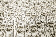 Free Pile Of American Dollars Stock Images - 24895154