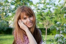 Free Woman With Phone In The Park Royalty Free Stock Photography - 24896327