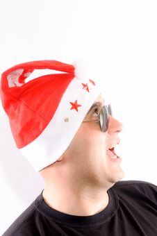 Free Santa Scared Royalty Free Stock Photography - 24896667