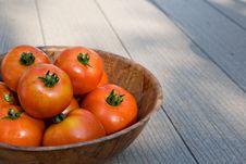 Bowl Of Tomatos Stock Photos