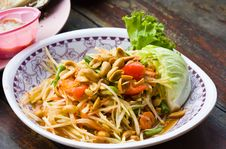 Free Spicy Papaya Salad From Thailand Stock Image - 24899691