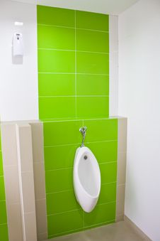 Free Urinal In The Bathroom Royalty Free Stock Image - 24899736
