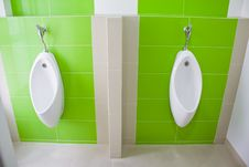 Free Urinal In The Bathroom Royalty Free Stock Photos - 24899748
