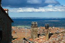 Free Tiled Rooftops Royalty Free Stock Image - 2491656