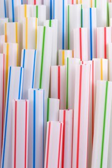 Free Colorful Straws Royalty Free Stock Photography - 2494177