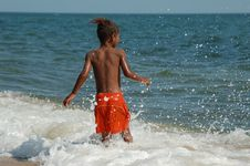 Free Boy On Beache Royalty Free Stock Photos - 2494628