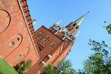 Wall Of Kremlin Royalty Free Stock Photos