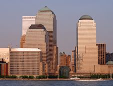 Free The Lower Manhattan Skyline Royalty Free Stock Photography - 2495667