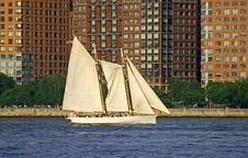 Free A Sailing Boat At Lower Manhat Stock Photos - 2495673