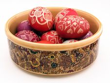 Free Vessel With Easter Eggs Royalty Free Stock Photo - 2495965