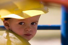 Hard Hat Boy Royalty Free Stock Image