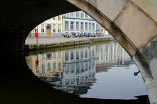 Free Reflections Under The Bridge Stock Photography - 2497932