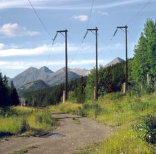 Free Rural Power Line BC Canada Royalty Free Stock Images - 2498639