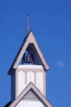 Free Steeple And Moon Stock Photos - 2498823