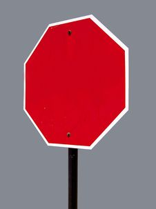 Free Blank Octagon Street Sign Stock Photography - 2499712