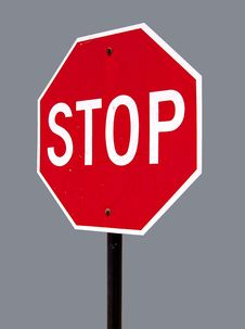 Free Isolated Stop Sign Stock Photos - 2499753