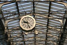Free Railway Station Clock Royalty Free Stock Image - 2499906