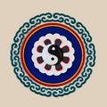 Free Bas-relief Sculpture Of Yin Yang Symbol Stock Photos - 24906363