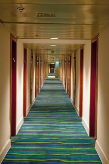 Free Hotel Corridor Royalty Free Stock Image - 24902956