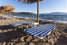 Free Beach Chairs Royalty Free Stock Photo - 24903445