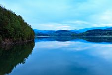 Free Blue Dusk Over Lake Royalty Free Stock Photos - 24903658