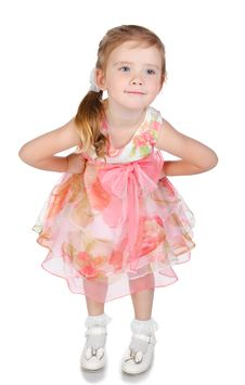 Portrait Of Cute Girl In Princess Dress Stock Photography