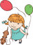 Free Girl With Balloons Stock Images - 24904304