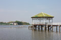 Free Pavilion On The Water. Stock Image - 24914071