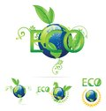 Free Eco Earth Symbols Green And Blue Color Royalty Free Stock Image - 24916826