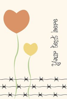 Free Flowers And Barbed Wire Royalty Free Stock Photo - 24910715