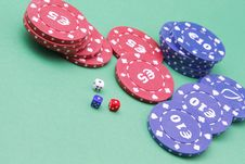 Free Dice And Fiches Stock Photo - 24912000