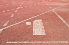 1 Running Track Royalty Free Stock Images