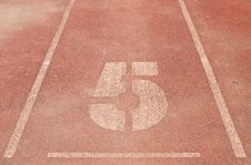 5 Running Track Royalty Free Stock Images