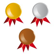 Free Awards, Ribbons Stock Image - 24919511