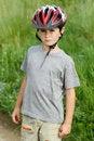 Free Portrait Of Boy Bicyclist With Helmet Stock Photo - 24924410
