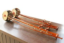Thai Fiddle Musical Instrument Stock Images