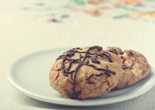 Free Chunky Chocolate Chip Cookie Royalty Free Stock Photos - 24927858