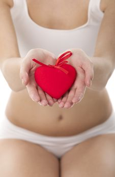 Holding Heart In Hands Stock Photography