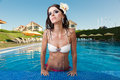 Free The Beautiful Girl In Pool Royalty Free Stock Photography - 24932277
