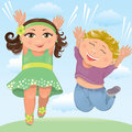 Free Jumping Children Royalty Free Stock Photography - 24933847