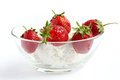 Free Fresh Strawberries And Cottage Cheese. Royalty Free Stock Photo - 24939175