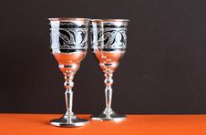 Free Silver Goblets Royalty Free Stock Photo - 24930115