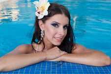 Free The Beautiful Girl In Pool Stock Photos - 24932213